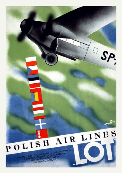 Polish Airlines. Vintage Travel/Tourism Print/Poster. Sizes: A4/A3/A2/A1 (002722)